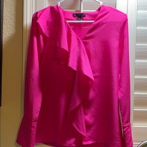 Long Sleeve Pink Banana Republic blouse XS, used